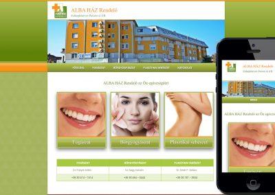 Alba Ház Rendelő mobilbarát weboldala