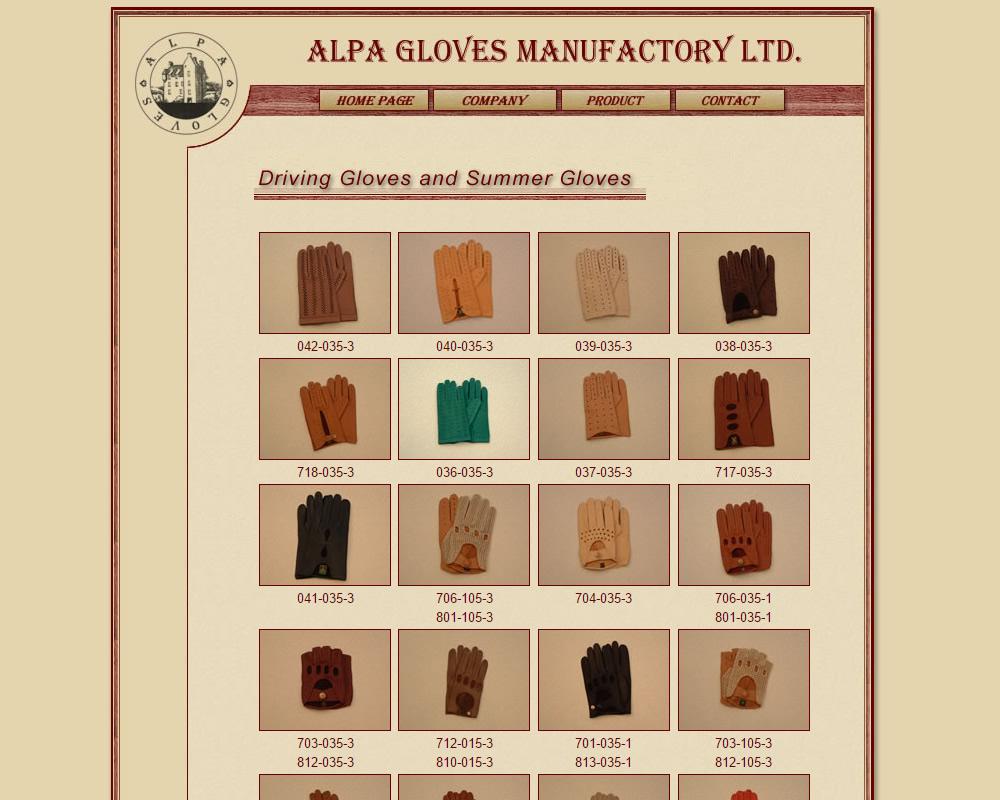 Alpa gloves kesztyűk