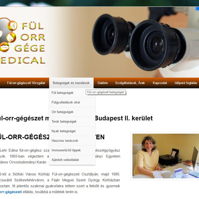 A fullorrgegemedical.hu weboldal keresőoptimalizálása