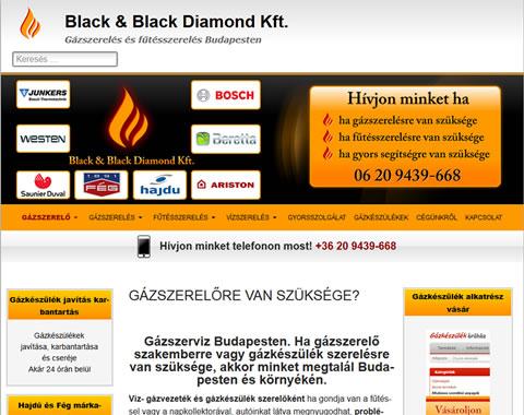 Budapest gázszerelő reszponzív weboldala