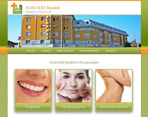 Alba Ház Rendelő mobilbarát weboldal készítés