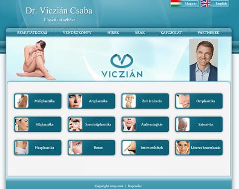 Dr Viczián Csaba weblap készítés