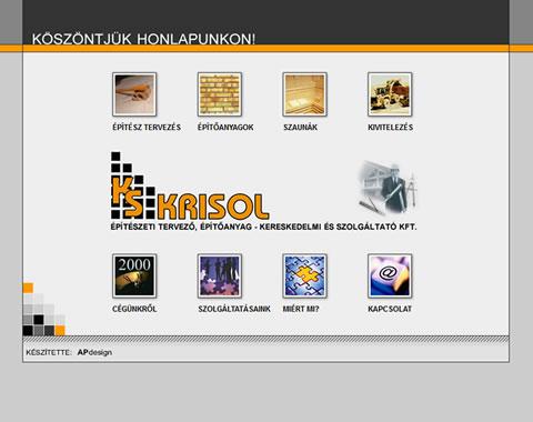Krisol Kft. weblap készítés