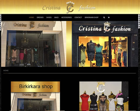 Máltai Cristina Fashion weboldal készítés