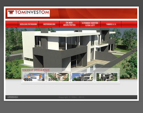 Tominvestom társasházak weblap készítés