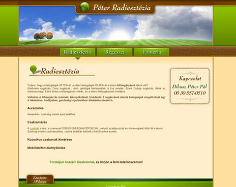Radiesztézia weblap készítés