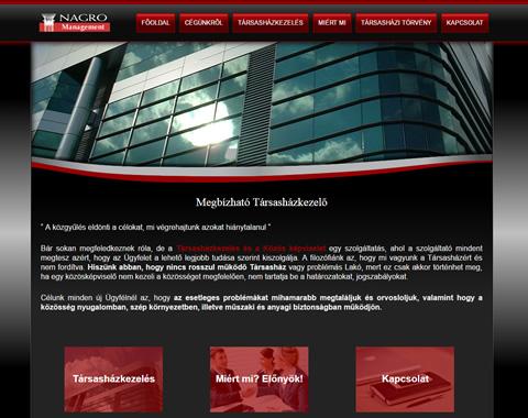 Reszponzív weboldal készítés Norbert közös képviselő részére