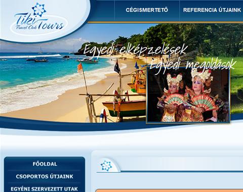 Tikitours Travel Club reszponzív weboldala