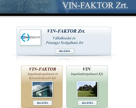 Vin Faktor weboldal készítés
