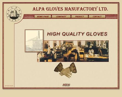 Alpa Gloves weboldal készítés
