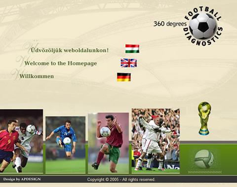 Footballdiagnostics weblap készítés