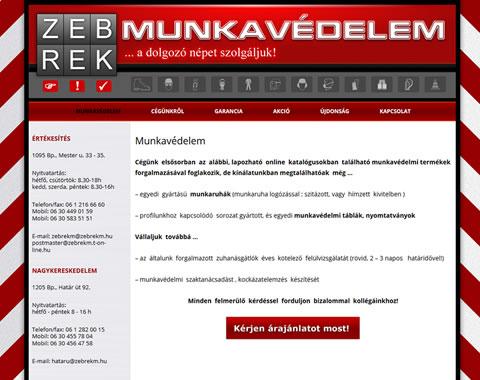 Zebrek Munkavédelem wordpress weboldal