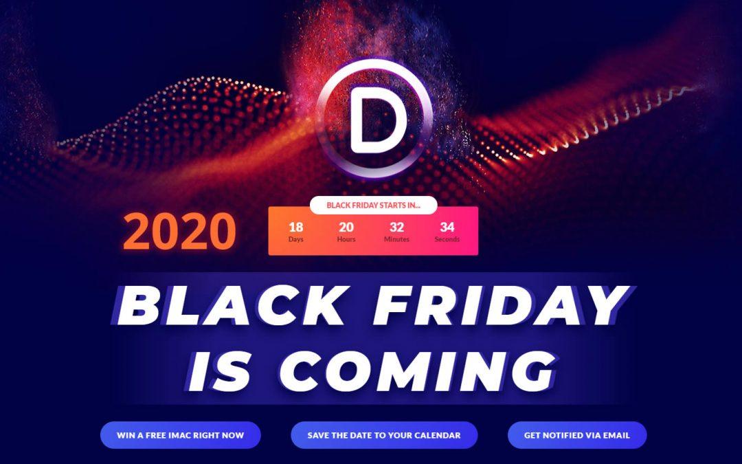 Hamarosan Divi black friday 2020
