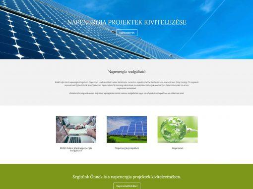 Napenergia szolgáltató weboldal