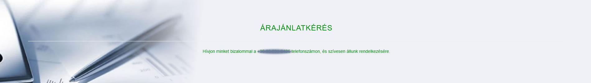 calltoaction a szövegben ajánlatkérés