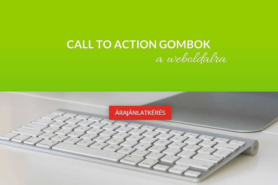 Call to action gombok a weboldalra
