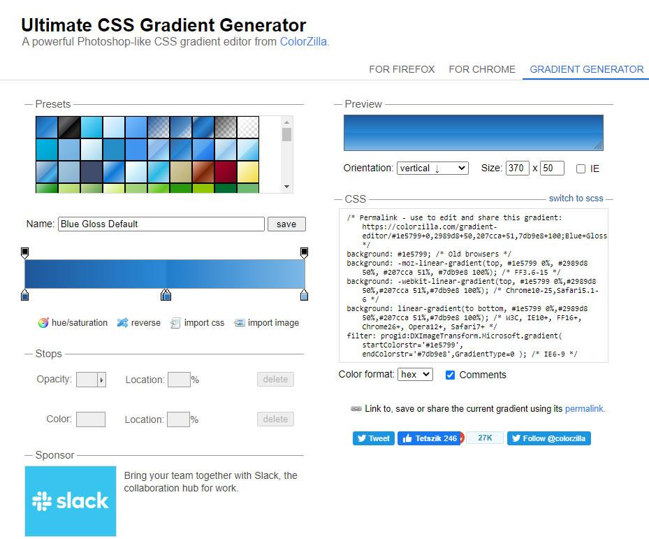 ColorZilla css kódgenerátor