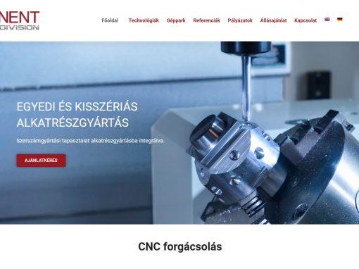 Weboldal készítés a Component CNC részére
