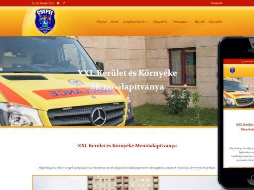 Csepel mentők webodal készítés