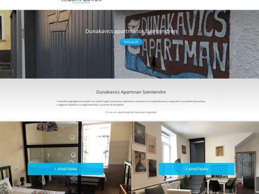Dunakavics Apartmanok Weboldal Készítés