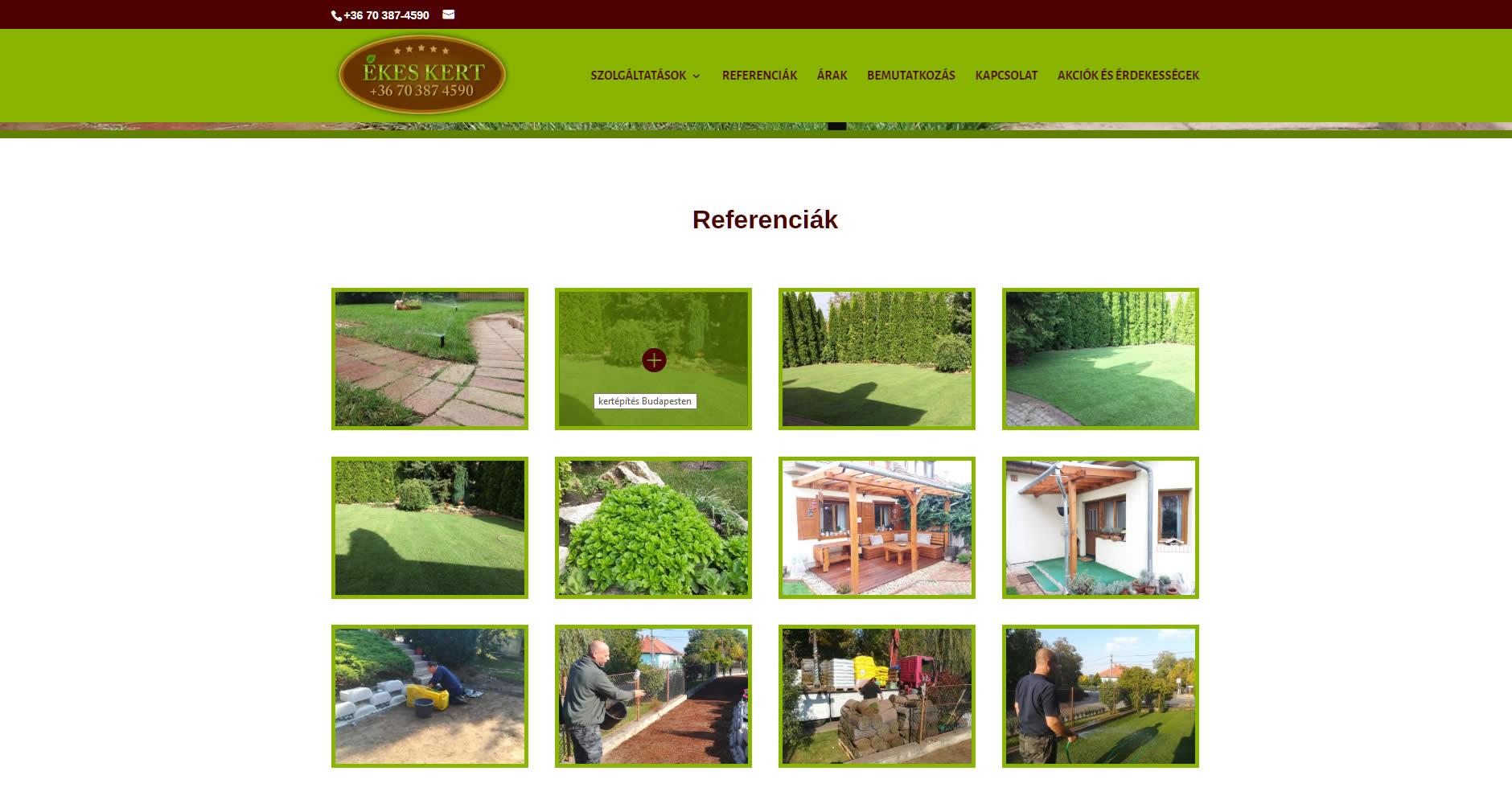 Ékeskert kert referenciák