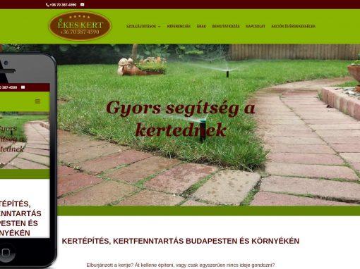 Ékeskert weboldal készítés