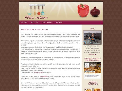 Főzzvelem reszponzív weboldal készítés