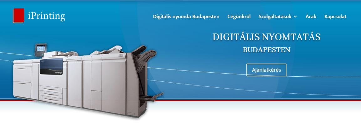 iprinting digitális nyomda weboldal fejléce