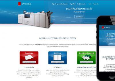 iprinting weboldal készítés