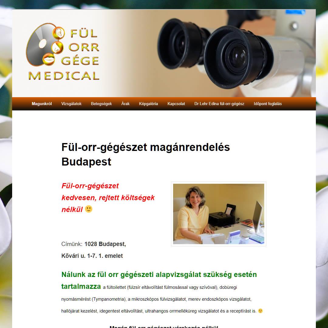 keresőoptimalizálás fulorrgegemedical.hu Google fül orr gégészet első oldal