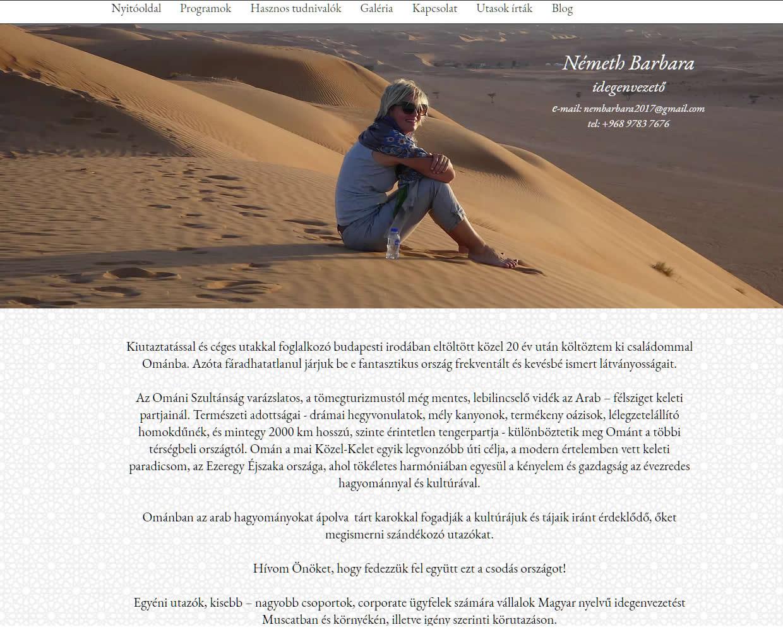 Németh Barbara weboldala az idegenvezető omán keresésre
