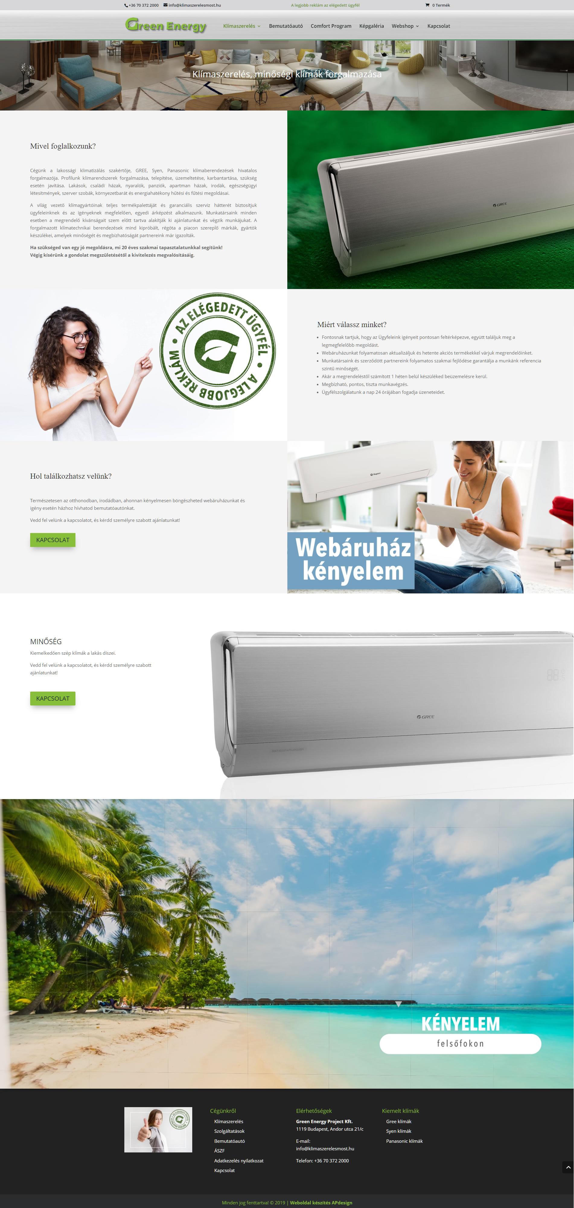 Green Energy klímaszerelési szolgáltatások