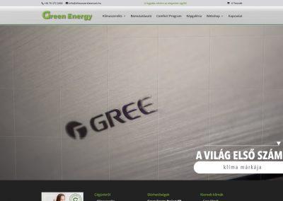 Green Energy klimaszerelés weboldalkészítés és webáruház készítés