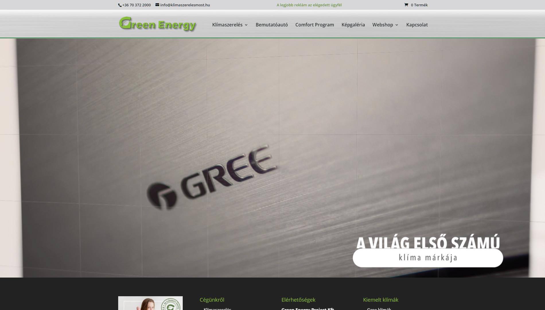 Klímaszerelés weboldal