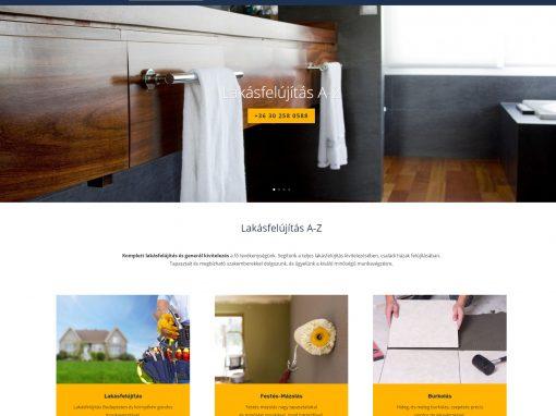 Lakásfelújítás weboldal