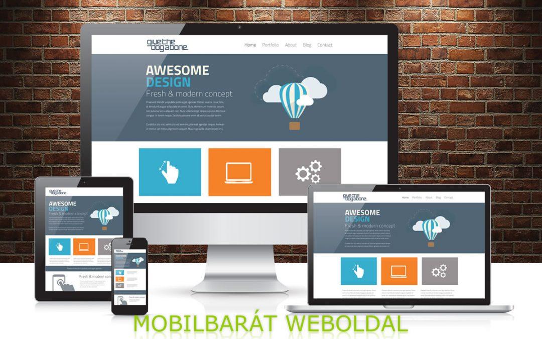 Mobilbarát weboldal