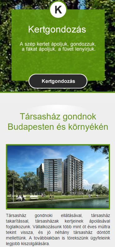 mobilbarát weboldal elrendezés