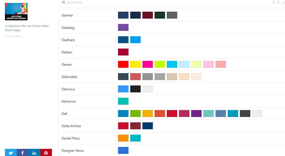 brandcolors színek