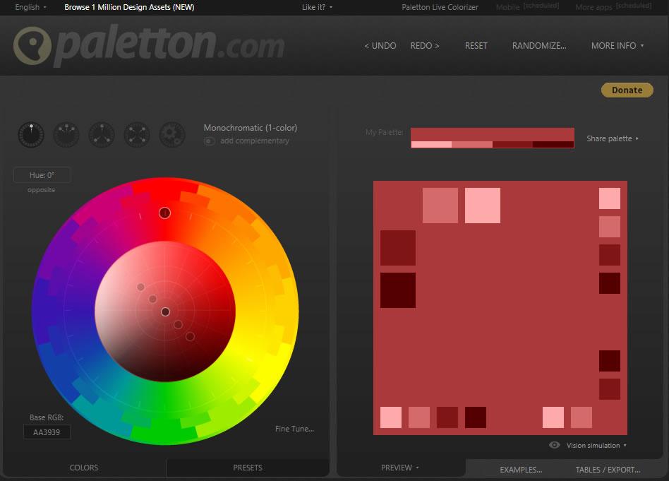 Paletton színválasztó