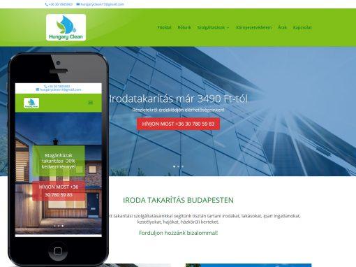 Weboldal készítés budapesti takarító cég részére