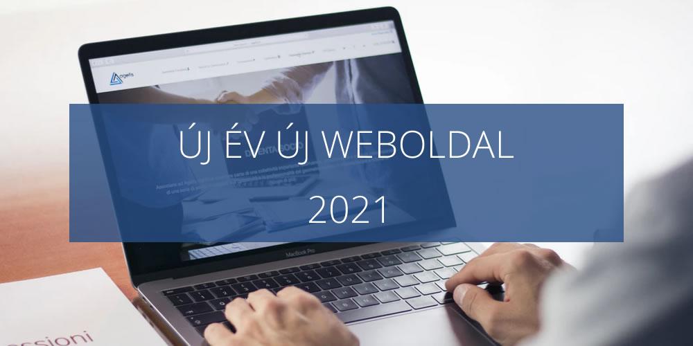 új év új weboldal készítése 2021