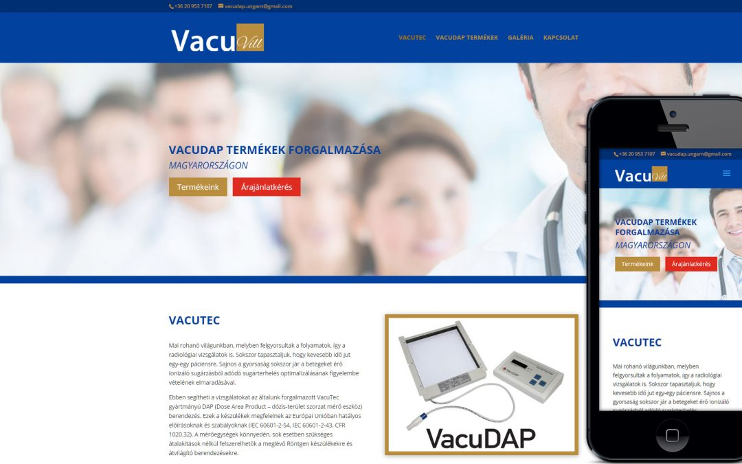 Vacuvill weboldal