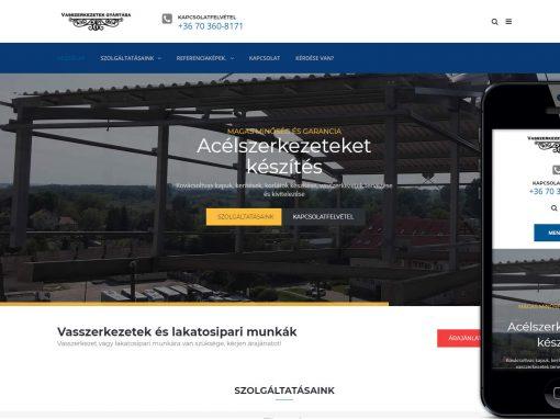 Weboldal redesign vasszerkezetek témában