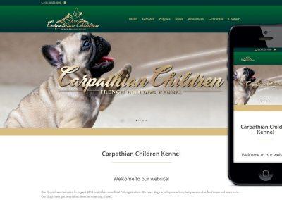 wordpress weboldal készítés carpathian-children-french bulldog kennel részére