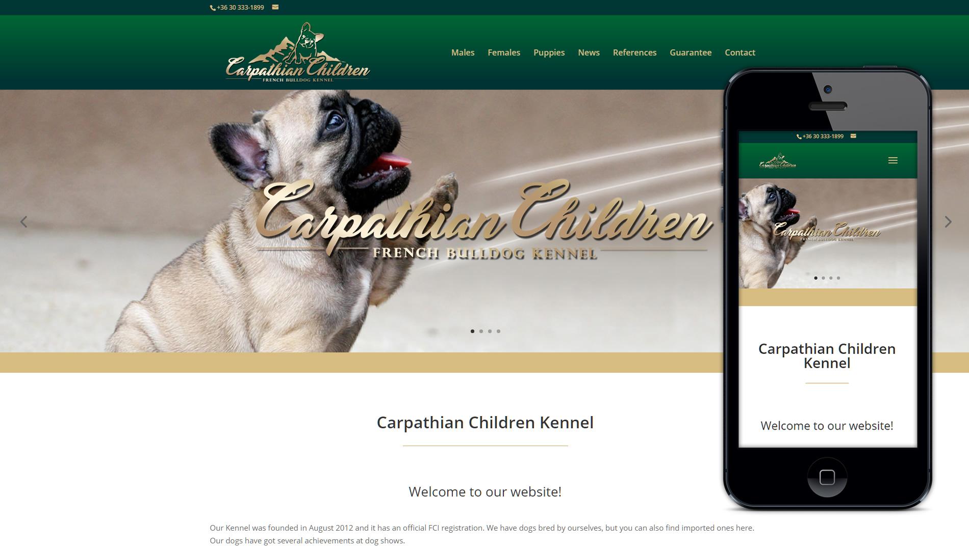 Weboldal készítés a Carpathian Children Kennel részére