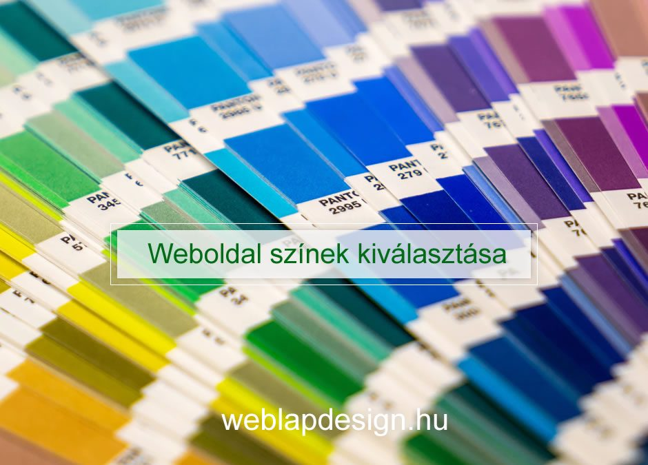 Weboldal színek kiválasztása