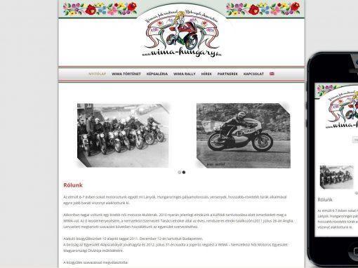 Wima női motoros egyesület weboldala