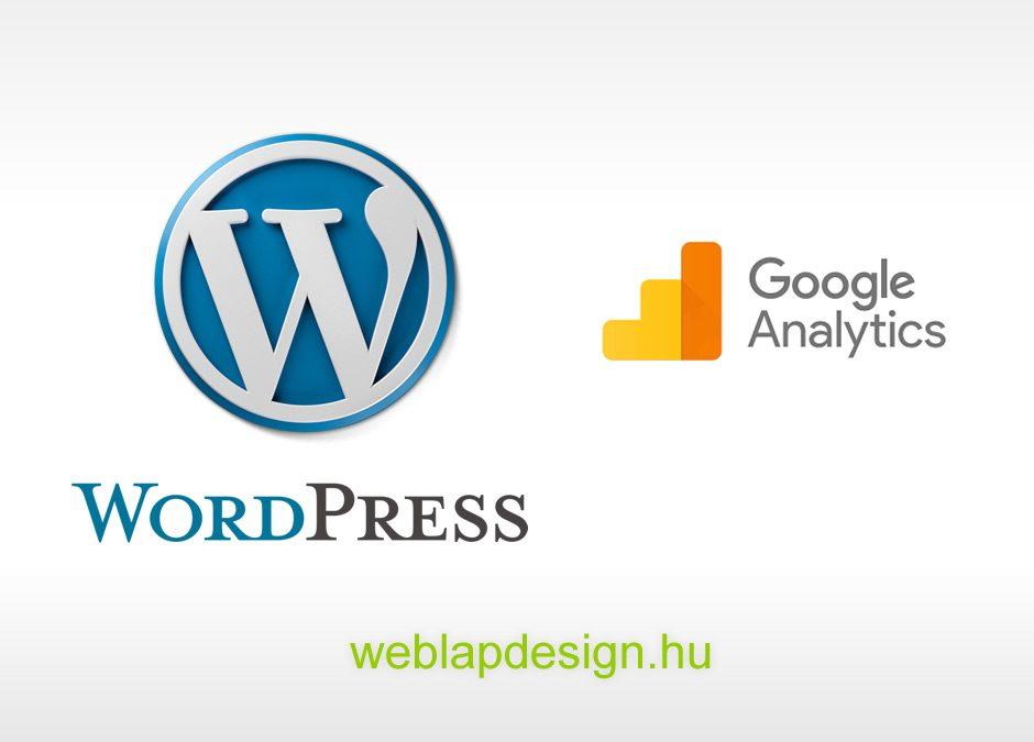 WordPress honlap és Google Analytics