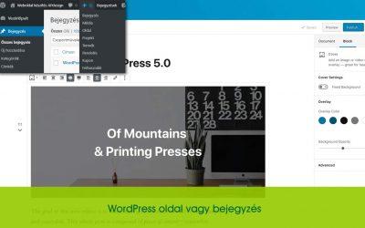 WordPress oldal vagy bejegyzés?